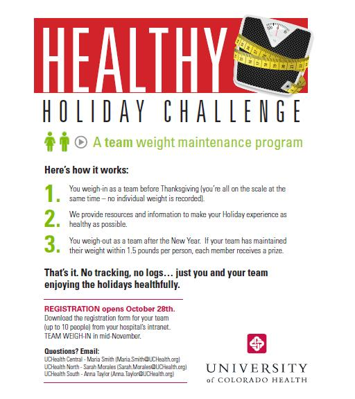 Celebrate a Healthier U: Register for the Healthy Holiday Challenge!